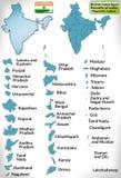 Översikt av Indien Fotografering för Bildbyråer