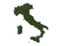 Översikt av Italien serieländer ut ur realistiskt gräs Royaltyfri Foto