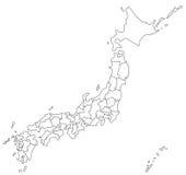 Översikt av Japan vektor illustrationer