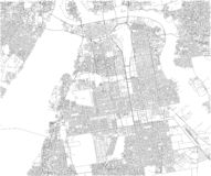 Översikt av Khartoum, satellit- sikt, stad, Sudan royaltyfri illustrationer