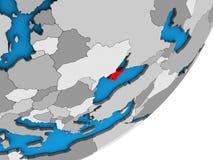 Översikt av Krim på jordklotet 3D vektor illustrationer
