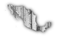 Översikt av Mexico på ridit ut trä Arkivfoto