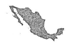 Översikt av Mexico på vallmofrön Royaltyfria Bilder