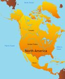 Översikt av Nordamerika Royaltyfria Bilder