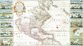 Översikt av Nordamerika inklusive västra Indies Royaltyfri Fotografi