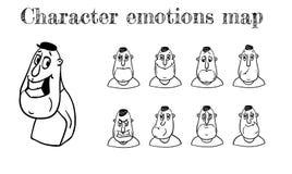 Översikt av sinnesrörelser stock illustrationer