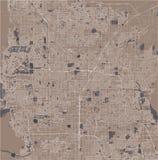 Översikt av staden av Las Vegas, Nevada, USA royaltyfri illustrationer