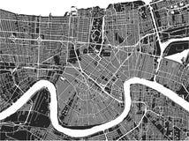 Översikt av staden av New Orleans, Louisiana, USA royaltyfri illustrationer