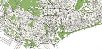 Översikt av staden av Singapore, republik av Singapore royaltyfri bild