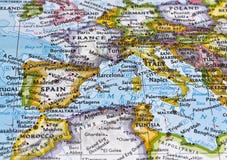 Översikt av Sydeuropa Arkivfoto