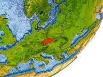 Översikt av Tjeckien på jord Arkivfoton