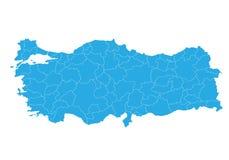Översikt av Turkiet Hög detaljerad vektoröversikt - Turkiet royaltyfri illustrationer