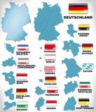 Översikt av Tyskland Royaltyfri Fotografi