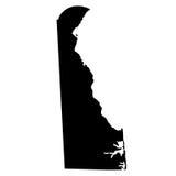 Översikt av Uen S statliga Delaware royaltyfri illustrationer