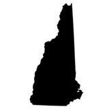 Översikt av Uen S Statliga New Hampshire royaltyfri illustrationer