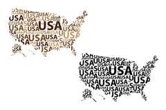 Översikt av USA - vektorillustration stock illustrationer