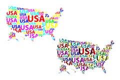 Översikt av USA - vektorillustration Fotografering för Bildbyråer