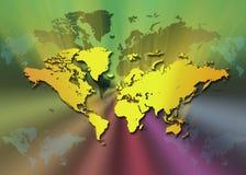 Översikt av världen vektor illustrationer