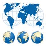 Översikt av världen Arkivbild