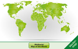 Översikt av världen Arkivfoto