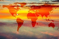Översikt av världen på himmel Royaltyfri Foto