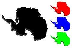 översikt 3D av Antarktis vektor illustrationer