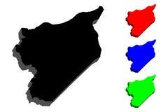 översikt 3D av Syrien Royaltyfria Bilder