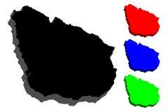 översikt 3D av Uruguay Royaltyfri Foto