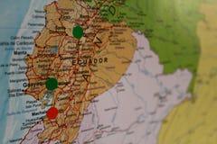 Översikt för Ecuador loppplan Royaltyfria Bilder