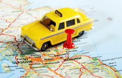 Översikt för EdinburgSkottland taxi Arkivbild