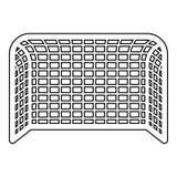 Översikt för illustration för färg för svart för symbol för ställning för begrepp för port för handboll för port för fotbollportf vektor illustrationer