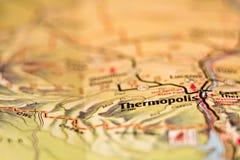 Översikt för område för Thermopolis wyoming stadsUSA Fotografering för Bildbyråer