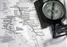 översikt för områdesfjärdkompass Royaltyfria Foton