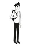 Översikt för påse för ung man stilfull vektor illustrationer