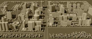 översikt för stad 3d stock illustrationer