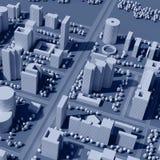 översikt för stad 3d Fotografering för Bildbyråer