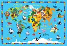 Översikt för ungar 3d för världsdjurplasticine färgrik Arkivbild