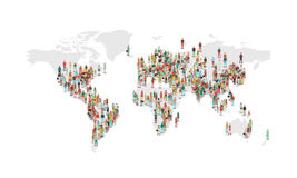 Översikt för världsbefolkningtäthet Arkivfoto