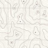 Översikt för vektor för konturhöjd topographic sömlös stock illustrationer