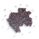 Översikt Gabon för folkgruppform Arkivbild