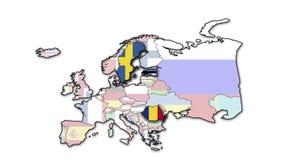 Översikt med blinkande länder av Europa
