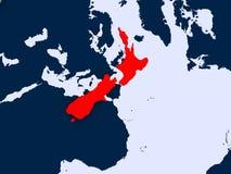 översikt New Zealand Arkivbild