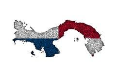 Översikt och flagga av Panama på vallmofrön Royaltyfria Foton