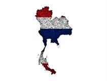 Översikt och flagga av Thailand på vallmofrön Arkivbild