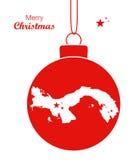 Översikt Panama för glad jul stock illustrationer