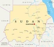 översikt politiska sudan stock illustrationer