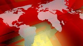 översikt stylized värld Royaltyfri Bild