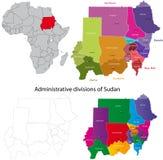 översikt sudan vektor illustrationer