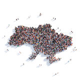 Översikt Ukraina för folkgruppform Arkivbilder