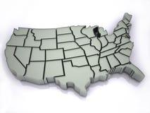 översikt USA Arkivfoton